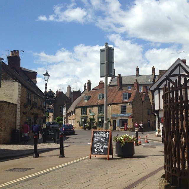 SHERBORNE VIEW FROM A BENCH