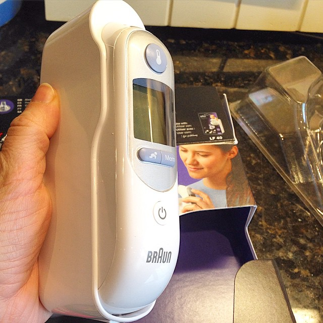 Braun ThermoScan Ear Thermometer in base