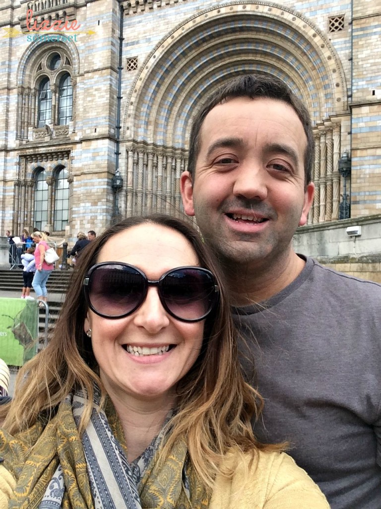 Me & Jon outside the Natural History Museum in London