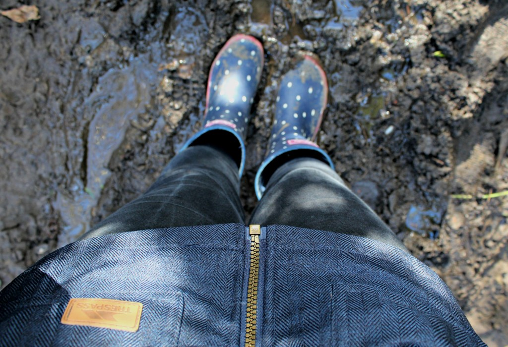 wellies in mud use