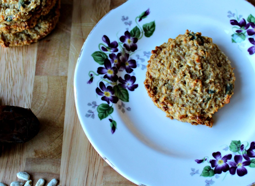 oat and date cookie closeup