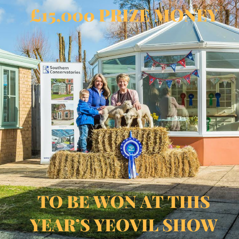 £15,000 PRIZE MONEY TO BE WON AT THIS YEAR'S YEOVIL SHOW