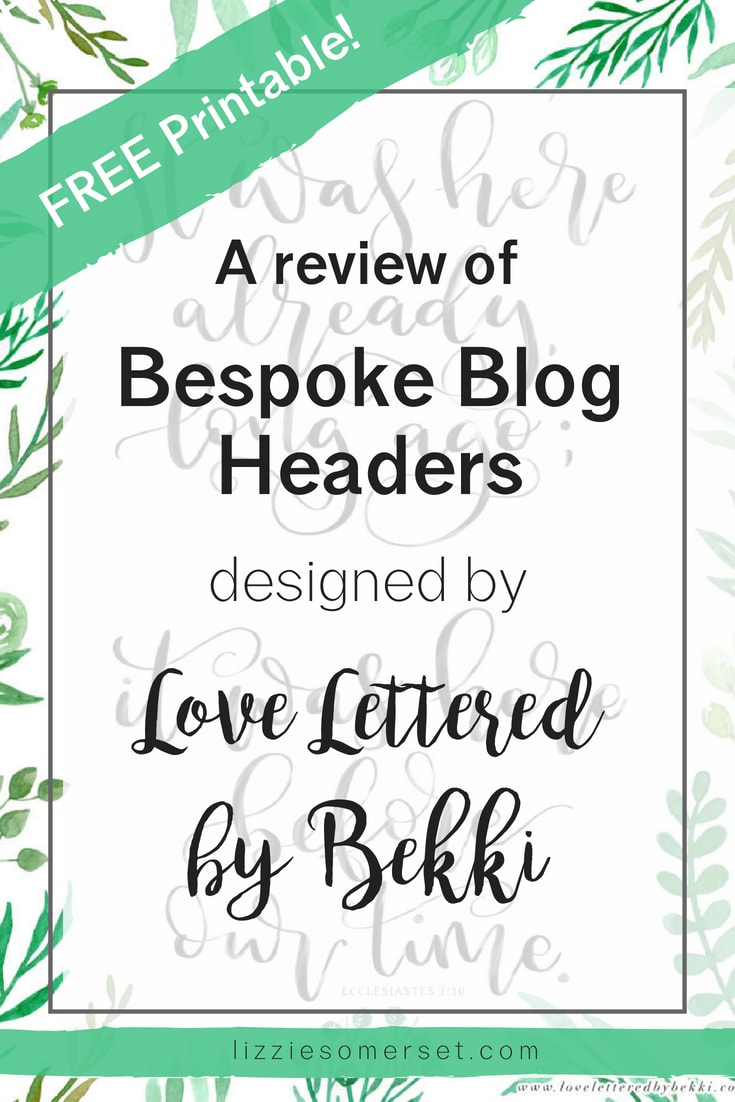 A review of a blog header design service by Love Lettered by Bekki - see the process she uses to design her artwork and grab your FREE printable design too!