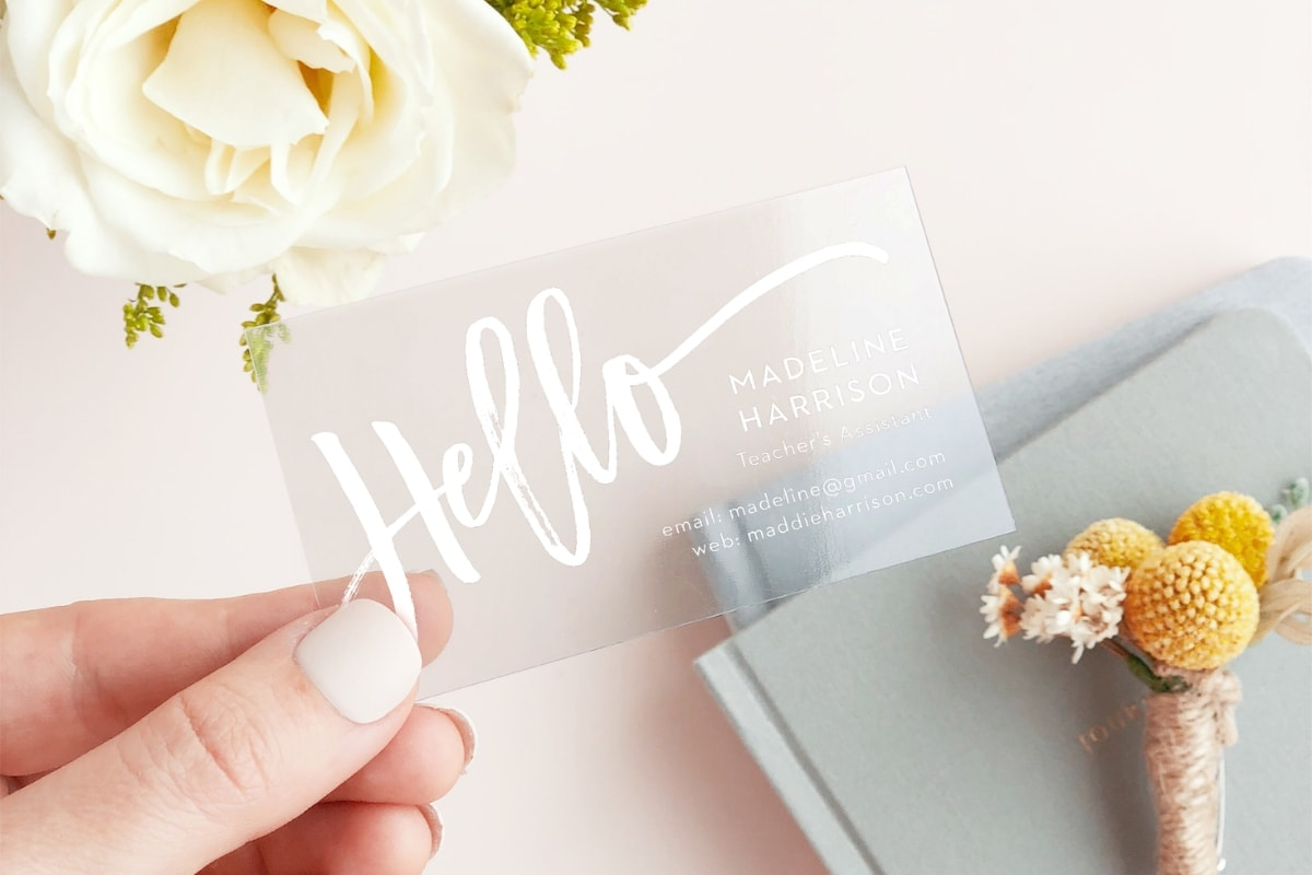 custom business cards from Basic Invite