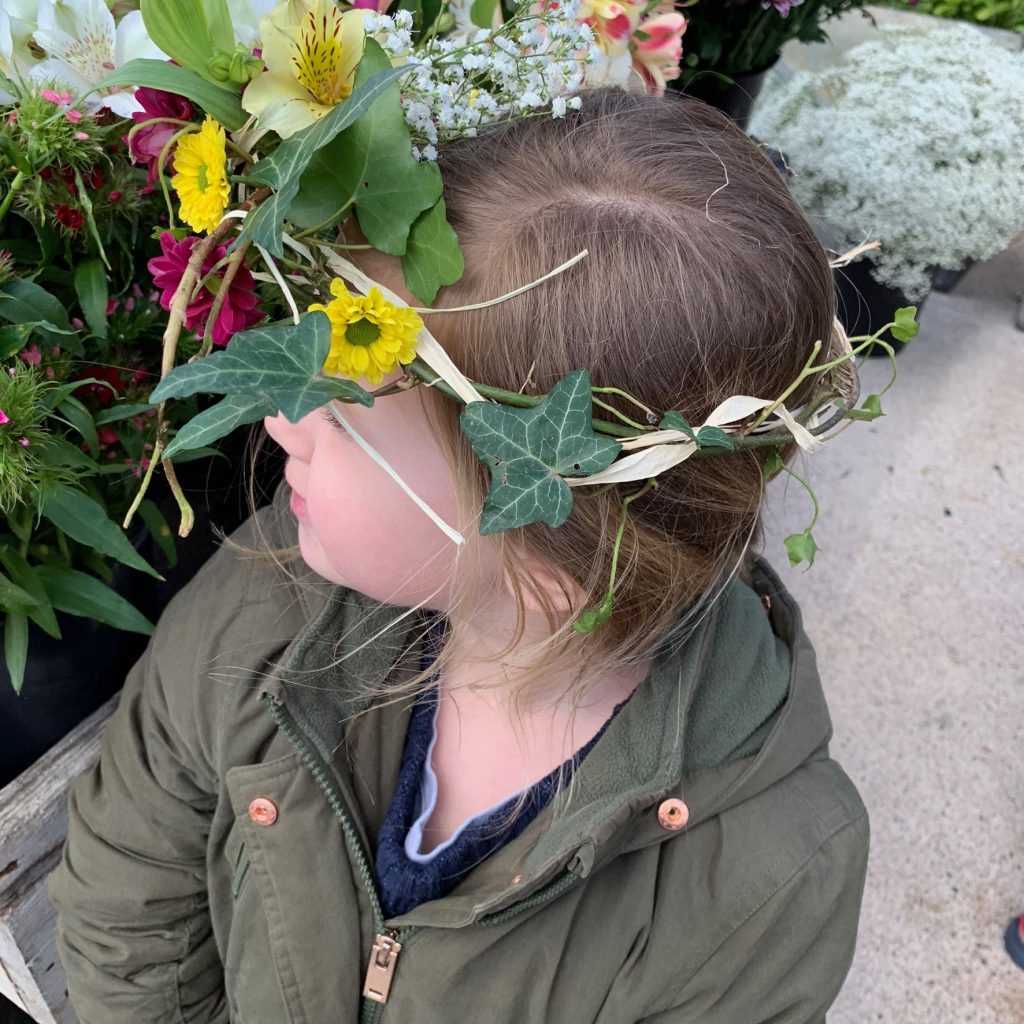 Floral crown at Hauser and Wirth, Somerset