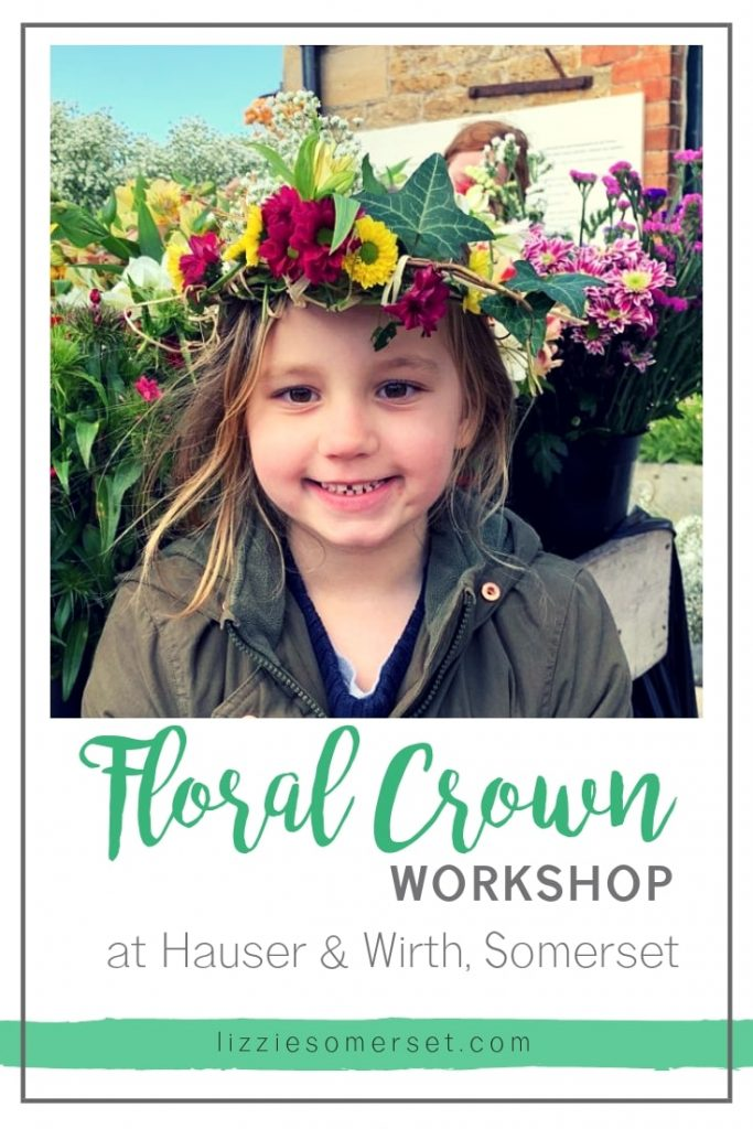 Floral Crown Workshop at Hauser & Worth, Somerset | Lizzie Somerset