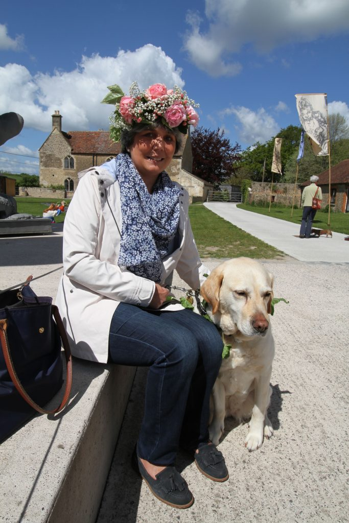 Garden and dog lovers make floral crowns ahead of Garden Day Sunday May 12th