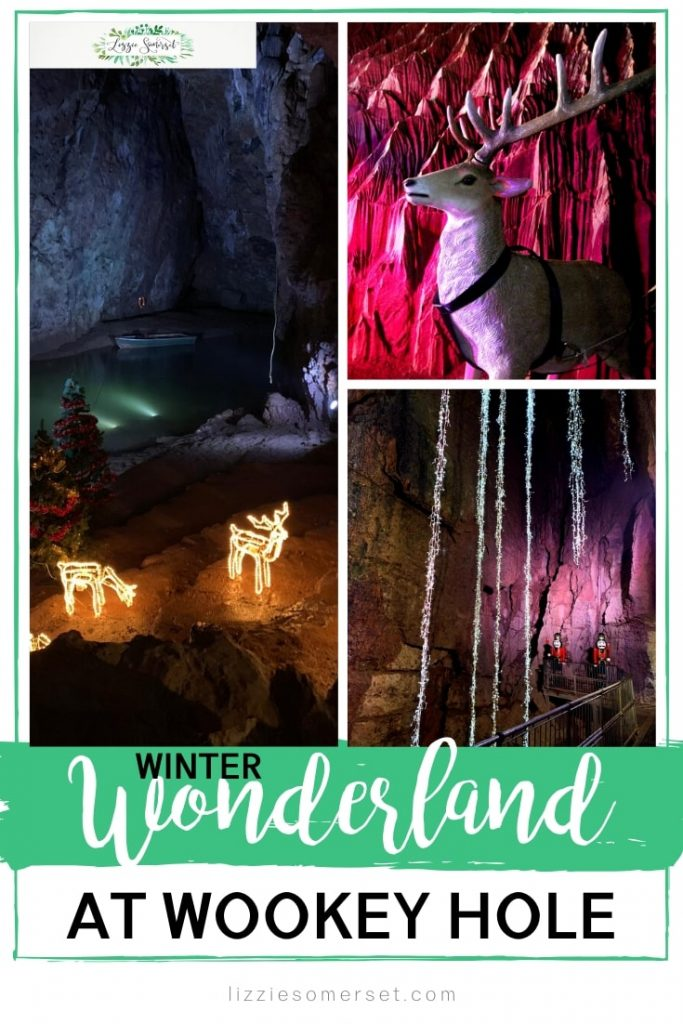 Winter Wonderland at Wookey Hole, Somerset. Visit Wookey Hole at Christmas to see the caves lit up in a magical Winter Wonderland!