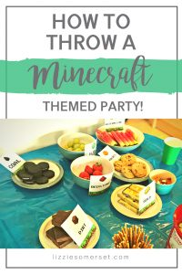 How to throw a Minecraft themed party on a budget #kidsparties #Minecraft