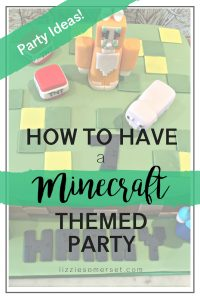 How to have a Minecraft themed party for your kids! See how we threw a party with a Minecraft theme for our son's 7th birthday and we did it on a budget. #Minecraft #partyideas