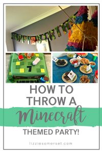 Want to know how to throw the most epic Minecraft themed party for your kids? See how we did it with a moderate budget! #minecraft #childrensparty