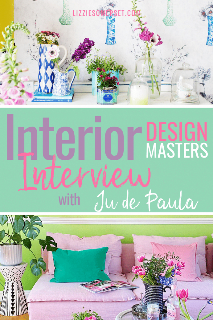 How To Mix Bold Colour With Pattern Q A With Ju De Paula Of Interior Design Masters Lizzie Somerset